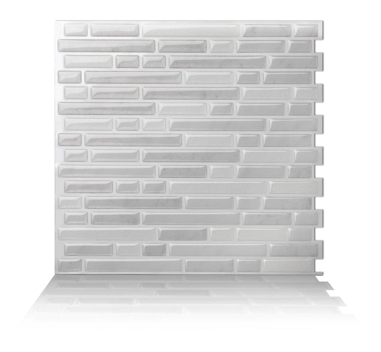 - Tic Tac Tiles_Premium 3D Peel And Stick_Wall Tile_Como White_ (W