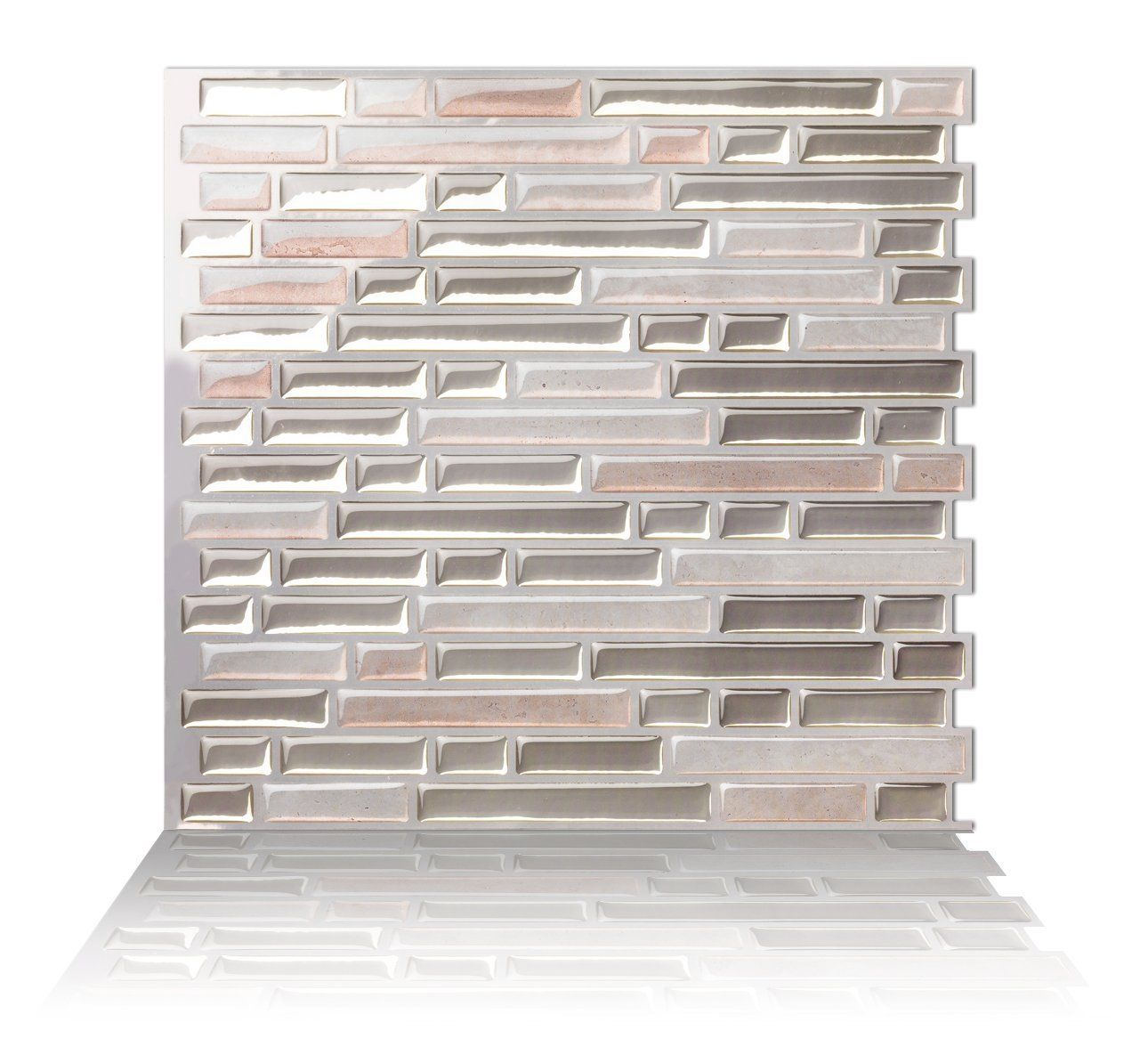 - Tic Tac Tiles_3D Peel And Stick Wall Tile In Como Sand (W: 25cm X