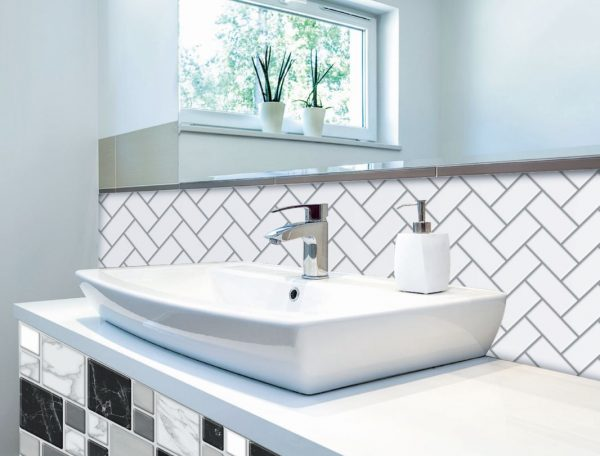 Herringbone Mono Bathrooms and Kitchen Tiles